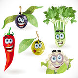 Funny cute vegetables smiles Stock Photography