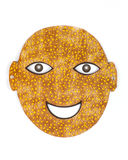 Funny cutout mask Royalty Free Stock Images