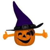 Funny 3d cartoon pumpkin Stock Photography