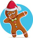 Funny Dabbing Gingerbread Man Vector Cartoon vector illustration