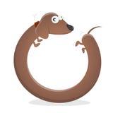 Funny dachshund cartoon Royalty Free Stock Photos
