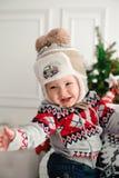 Celebration, family, holidays and birthday concept - happy new year family royalty free stock photos