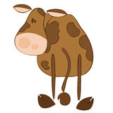 Funny dairy cow. Stock Photo