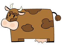 Funny dairy cow. Illustration of a funny dairy cow Royalty Free Stock Image