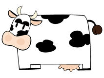 Funny dairy cow. vector illustration