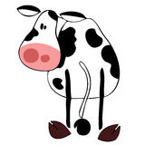Funny dairy cow. Royalty Free Stock Photos