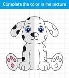 Funny dalmatian dog. Complete the picture children drawing game. Illustration of Funny dalmatian dog. Complete the picture children drawing game Stock Photo