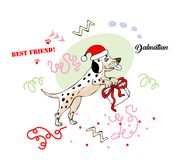 Funny Dalmatian Dog Sketch. Hand drawn animals vector illustration Royalty Free Stock Photo