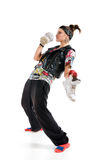 Funny dancer. With running shoes stock photo