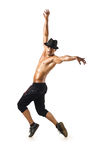 Funny dancer isolated Stock Images