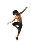 Funny dancer isolated Royalty Free Stock Image
