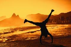 Funny dancer at Rio de Janeiro Stock Photography