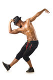 Funny dancer  on  white Stock Photography