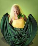 Funny dancing bride Royalty Free Stock Image