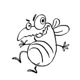 Funny dancing cute fly. vector illustration. Cartoon character stock illustration