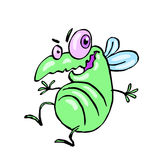 Dancing fly. Funny dancing cute fly. vector illustration. cartoon green character Stock Photos