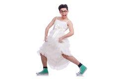 Funny dancing man Stock Images