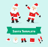 Funny dancing santa claus vector , father christmas in dance Stock Photography