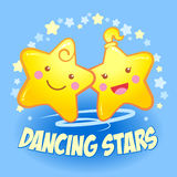 Funny dancing stars. Stock Images