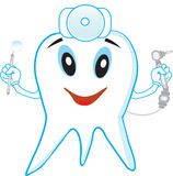 Funny dantist tooth Royalty Free Stock Photography