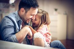 Free Funny Day With Daughter. Stock Images - 119966794