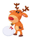 Funny deer and banner Stock Image