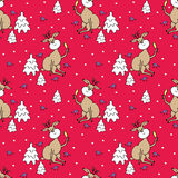Funny deer seamless pattern Stock Images
