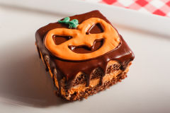 Funny delicious cakes for Halloween on the table. horizontal view from above.  Royalty Free Stock Photo