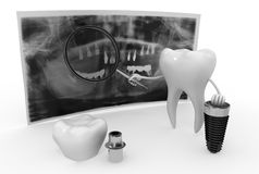 Funny dentistry Royalty Free Stock Image