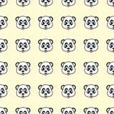 Funny design smile Panda cartoon seamless pattern for background and wallpaper. Animal wildlife vector background. Vector illustration EPS.8 EPS.10 Vector Illustration