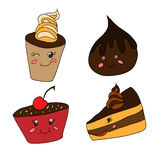 Funny desserts Stock Images