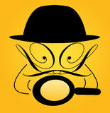 Funny detective icon Stock Photo