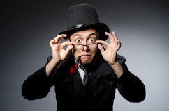 Funny detective with pipe Stock Images
