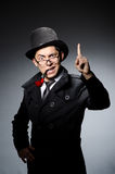 Funny detective with pipe Stock Image
