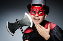 Funny devil against Stock Photos
