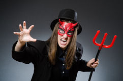 The funny devil in halloween concept Royalty Free Stock Image