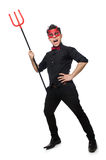 Funny devil isolated Royalty Free Stock Images