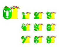 Funny digits, cdr vector Stock Photography