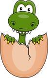 Funny dinosaur born Stock Image