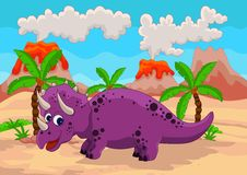 Funny dinosaur cartoon Royalty Free Stock Image