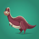 Funny dinosaur in cartoon style. Stock Photo