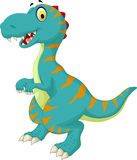 Funny dinosaur cartoon for you design Royalty Free Stock Photography