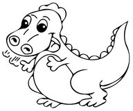 Funny dinosaur coloring pages Royalty Free Stock Images