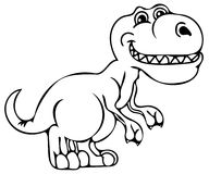 Funny dinosaur coloring pages Royalty Free Stock Image