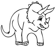 Funny dinosaur coloring pages Royalty Free Stock Photo