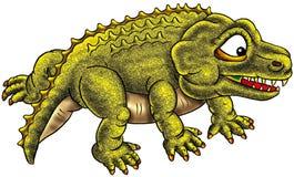 Funny dinosaur illustration Royalty Free Stock Image