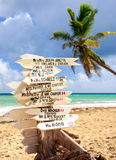 Funny direction signpost Stock Photography