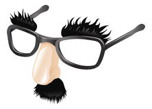 Funny disguise illustration. Funny disguise, comedy  fake nose moustache, eyebrows and glasses Stock Photo