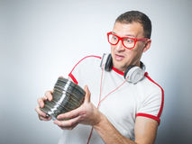 Free Funny Dj With Cds Stock Images - 63153684