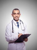 Funny doctor against the gradient Royalty Free Stock Photography